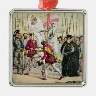 エリザベス女王一世は、「Nat.の歴史からの12をめっきします メタルオーナメント