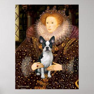 エリザベス女王一世及びボストン彼女のテリア ポスター