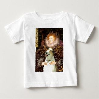 エリザベス女王一世-ボルゾイ ベビーTシャツ