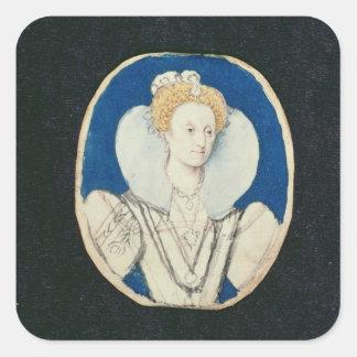 エリザベス女王一世、ミニチュアポートレート、(未完成) スクエアシール