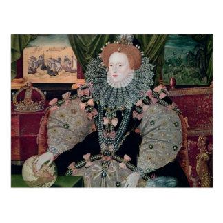 エリザベス女王一世、艦隊のポートレート、c.1588 ポストカード