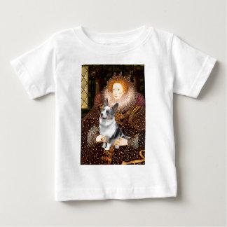エリザベス女王一世- Merleのウェルシュコーギー ベビーTシャツ