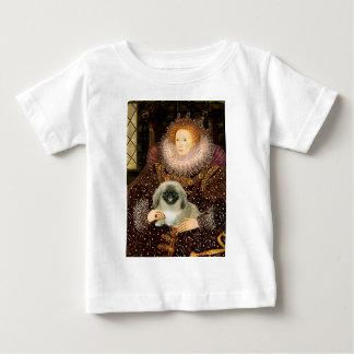 エリザベス女王一世- Pekingese ベビーTシャツ