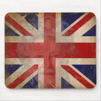 エリザベス女王二世との汚れたイギリスの旗のマウスパッド マウスパッド