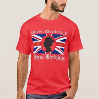 エリザベス女王二世の第90誕生日のワイシャツ Tシャツ