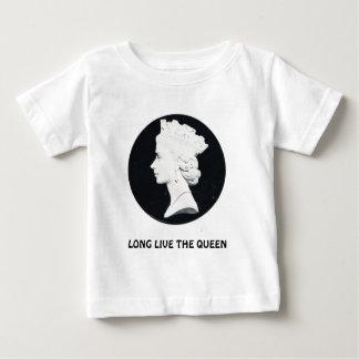エリザベス女王二世は、長く女王住んでいます ベビーTシャツ