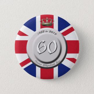エリザベス女王60年の記念祭 5.7CM 丸型バッジ
