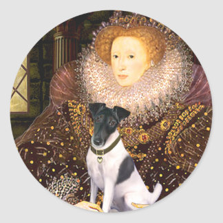 エリザベス女王-滑らかなフォックステリア犬 ラウンドシール