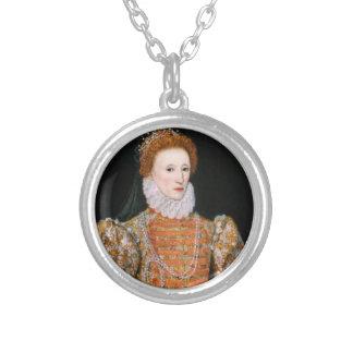 エリザベス女王- Necklance シルバープレートネックレス