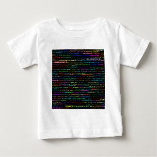 エリザベス文字デザインなIのワイシャツの乳児 ベビーTシャツ