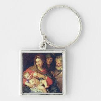 エリザベス(パネルの油)を持つ神聖な家族 キーホルダー