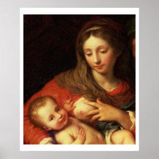 エリザベス(パネル)を持つ神聖な家族(detの油 ポスター