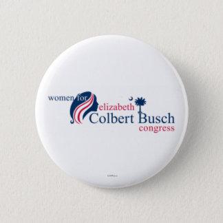 エリザベスColbert Buschのための女性 5.7cm 丸型バッジ