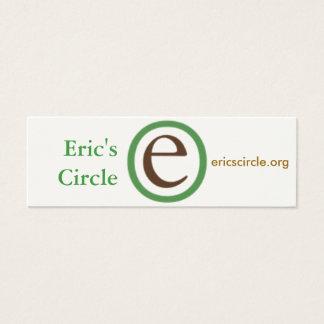 エリックの円の名刺 スキニー名刺