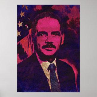 エリック司法長官のホールダーのポップアートポスター ポスター