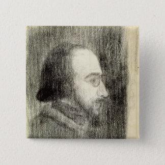 エリック・サティc.1886 5.1cm 正方形バッジ