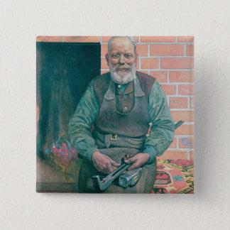 エリックErikson、鍛治屋 5.1cm 正方形バッジ
