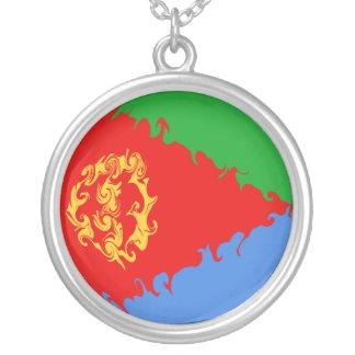 エリトリアのすごい旗 シルバープレートネックレス