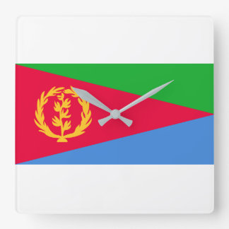 エリトリアの国民の世界の旗 スクエア壁時計