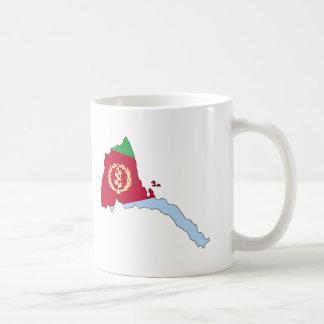 エリトリアの旗の地図 コーヒーマグカップ