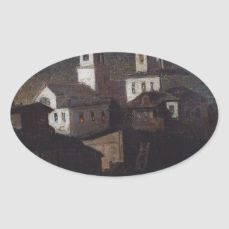 エリヤの教会Aleksey著モスクワの普通 楕円形シール