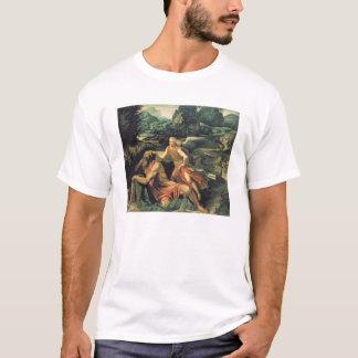エリヤは天使、c.1534によって訪問しました tシャツ