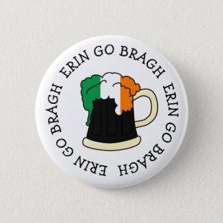 エリンはアイルランドの旗ビールセントパトリックボタンBraghの行きます 5.7cm 丸型バッジ