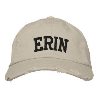 エリンは帽子を刺繍しました 刺繍入りキャップ