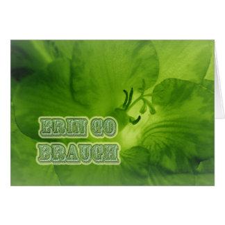 エリンは緑のフリージア項目Braughの行きます カード