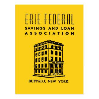 エリーの中央政府節約-および-貸付け金 ポストカード