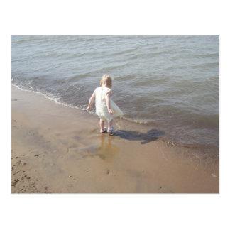 エリー湖のビーチ ポストカード
