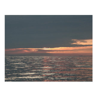 エリー湖の日没 ポストカード
