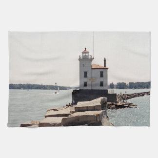 エリー湖の灯台 キッチンタオル
