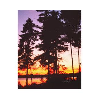 エリー湖オンタリオカナダのjjheleneのキャンバス キャンバスプリント