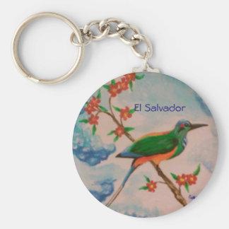 エルサルバドルからの鳥が付いているキーホルダー キーホルダー