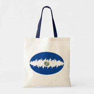 エルサルバドルのすごい旗のバッグ トートバッグ
