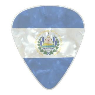 エルサルバドルのギターピックの旗 パールセルロイド ギターピック