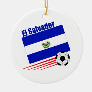 エルサルバドルのサッカーチーム セラミックオーナメント