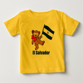 エルサルバドルのテディー・ベアのTシャツ ベビーTシャツ