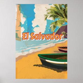 エルサルバドルのヴィンテージの休暇ポスター ポスター