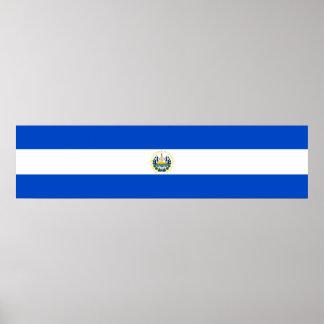 エルサルバドルの国の長い旗の国家の記号のrepubl ポスター
