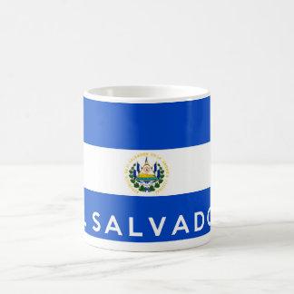 エルサルバドルの国旗の記号の名前の文字 コーヒーマグカップ