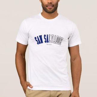 エルサルバドルの国旗色のサンサルバドル Tシャツ