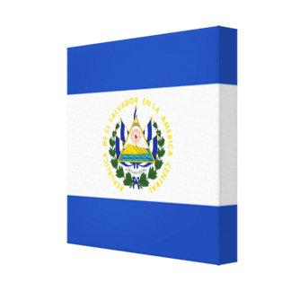 エルサルバドルの国民の紋章付き外衣の旗 キャンバスプリント