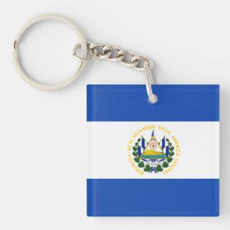 エルサルバドルの国民の紋章付き外衣の旗 キーホルダー