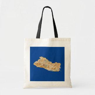 エルサルバドルの地図のバッグ トートバッグ
