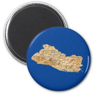 エルサルバドルの地図の磁石 マグネット