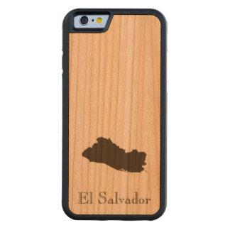 エルサルバドルの地図 CarvedチェリーiPhone 6バンパーケース