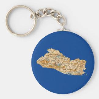 エルサルバドルの地図Keychain キーホルダー