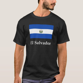 エルサルバドルの旗および名前 Tシャツ